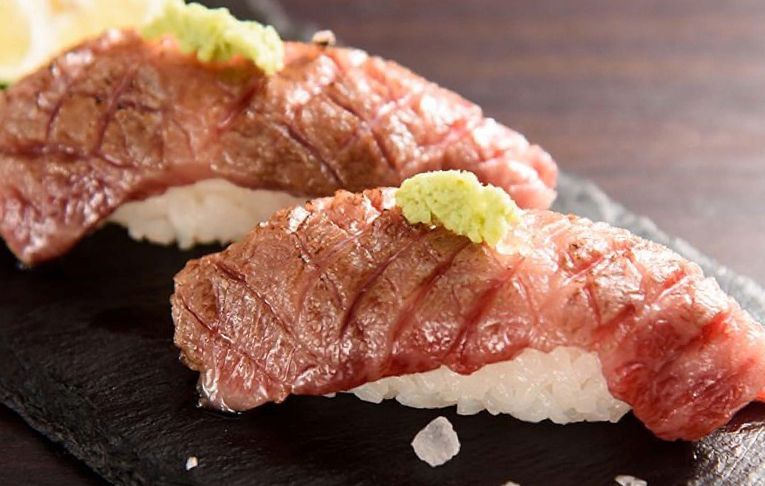 近江牛炙り寿司 並(赤身)