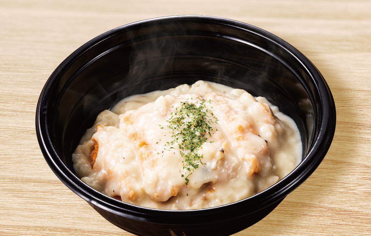 クリームカツ丼