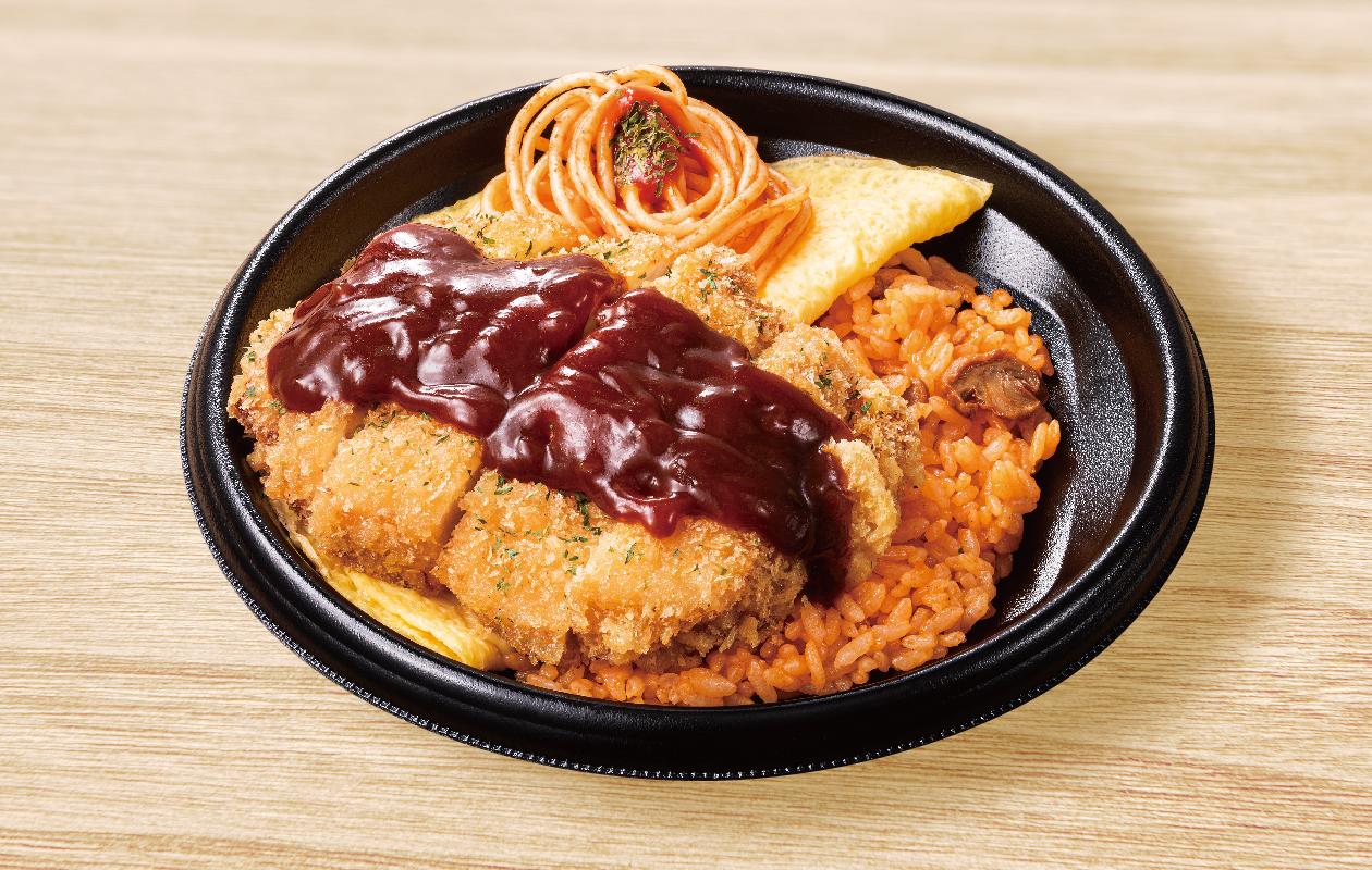 巨大チキンオムカツ丼 ~デミソース添え~
